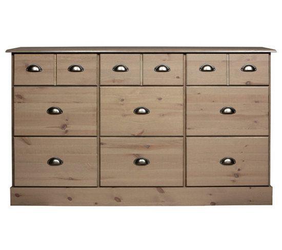 petits meubles enfilade 9 tiroirs nola brun