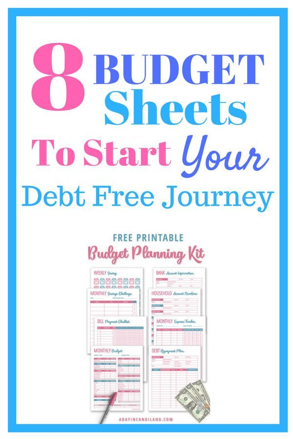 Create A Simple Monthly Budget Template with 8 Printables Monthly