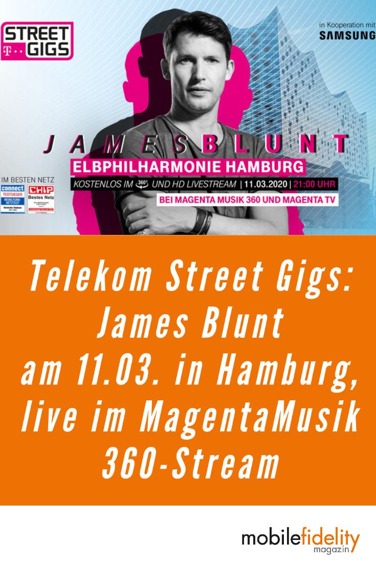 Telekom Street Gigs James Blunt Am 11 03 In Hamburg Im Livestream In 2020 Hamburg Musik James Blunt