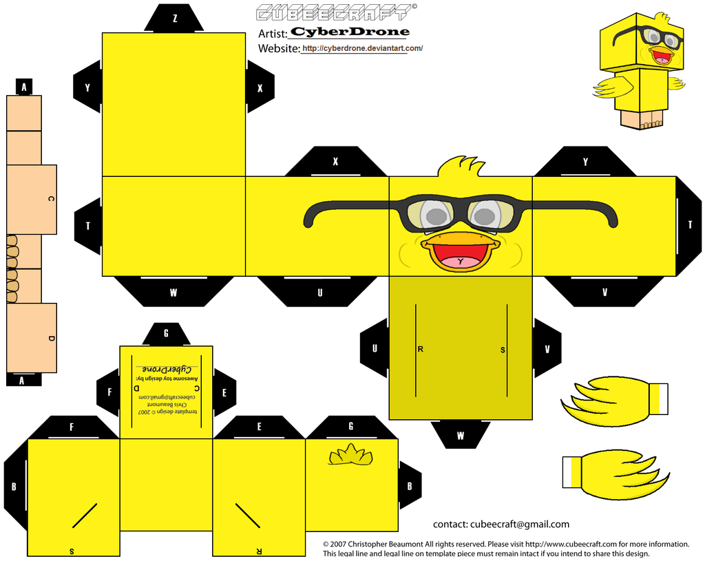 Cubee - Nerd Chick by CyberDrone.deviantart.com on @deviantART