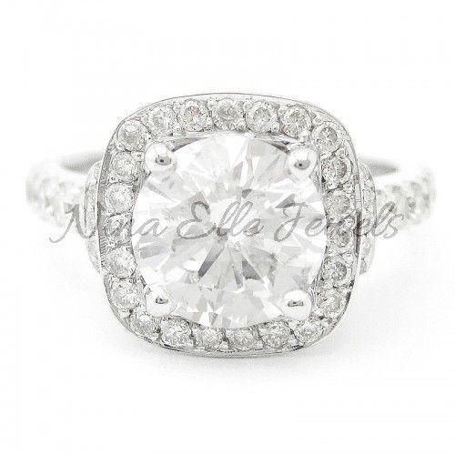 Vera Wang Engagement Rings   ... Cut Vera Wang Inspired Diamond Engagement Ring W Sapphire Accents R189