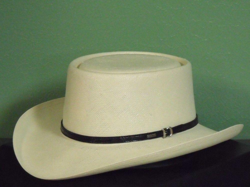 4fafb339f9199 Resistol gambler 10x shantung panama straw cowboy western hat ...