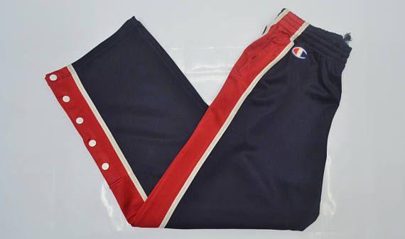 ecb570bb04f Vintage 90 s CHAMPION Tracksuit Logo Red White Stripes