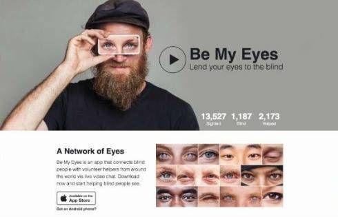 Be My Eyes: offri i tuoi occhi per una buona causa!