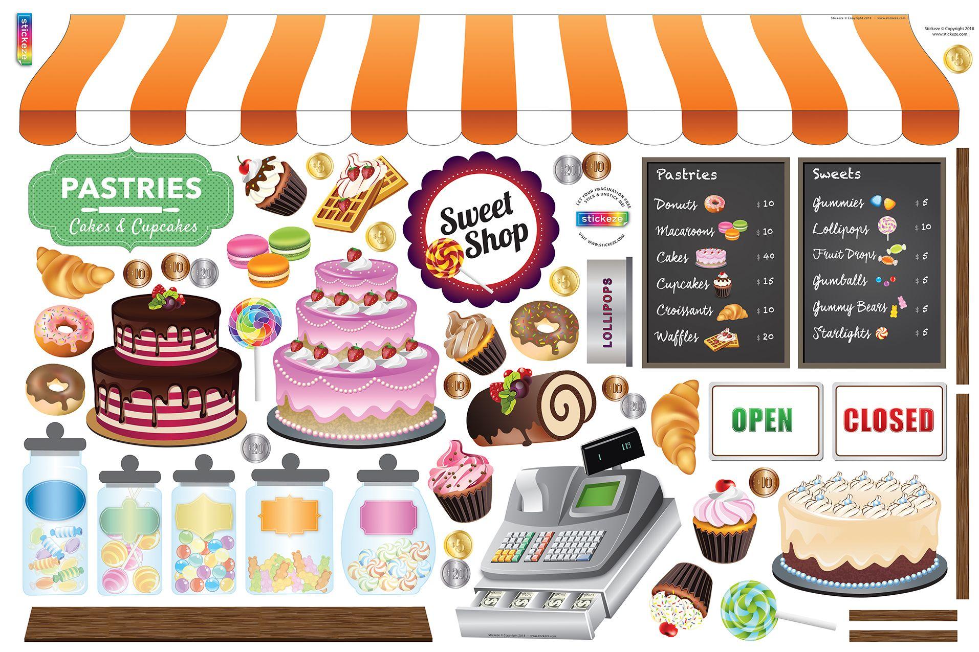 Bakerysweet shop decal set sweet bakery menu boards