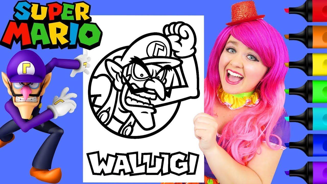 Coloring Waluigi Super Mario Nintendo Coloring Page Prismacolor