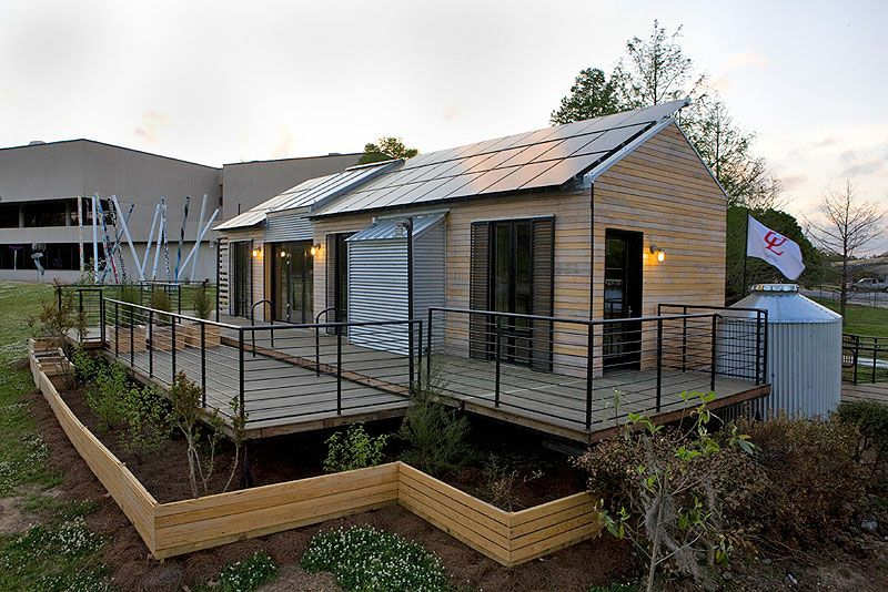Beausolei is a solar home that was presented in a competition in Washington D.C.