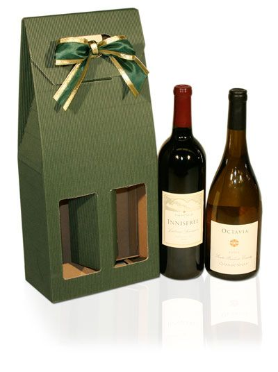 Paper Wine Gift Box For 2 Bottle With Windows And Handle Best Selling Products Best Wine Box Wine Gift Box