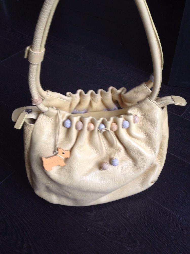 Radley Yellow Medium Handbag With