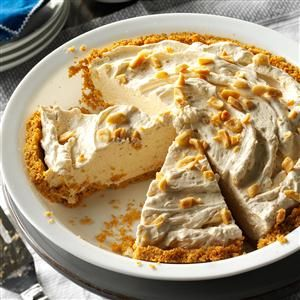 Peanut Butter Cream Pie Recipe -During the warm months, it's nice to have a fluffy, no-bake dessert that's a snap to make. Packed with peanut flavor, this pie gets gobbled up even after a big meal! —Jesse & Anne Foust, Bluefield, West Virginia