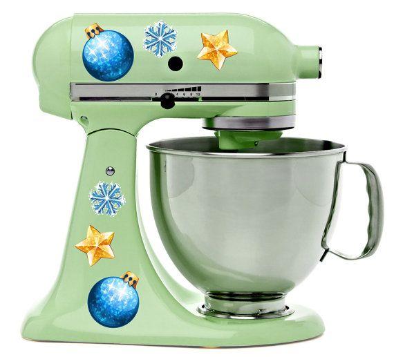 Christmas Tree Ornaments Decoration Holiday Kitchenaid Decal Kit Mixer Machine Art Wrap