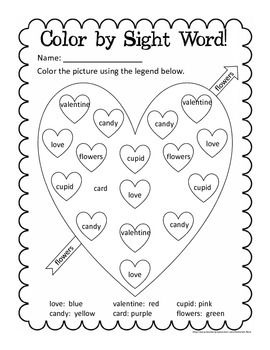 First Grade Valentine's Day Math + ELA No prep worksheets