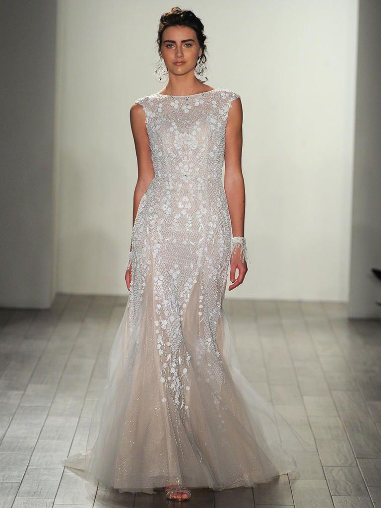 Lace wedding dress open back say yes dress  Alvina Valenta Fall  Romantic and Dreamy Wedding Dresses