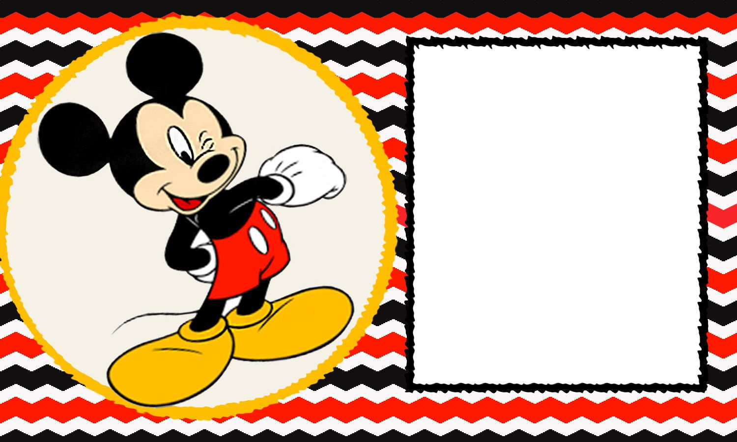 Free blank mickey mouse 1st invitation chevron template drevio free blank mickey mouse 1st invitation chevron template drevio invitations design filmwisefo