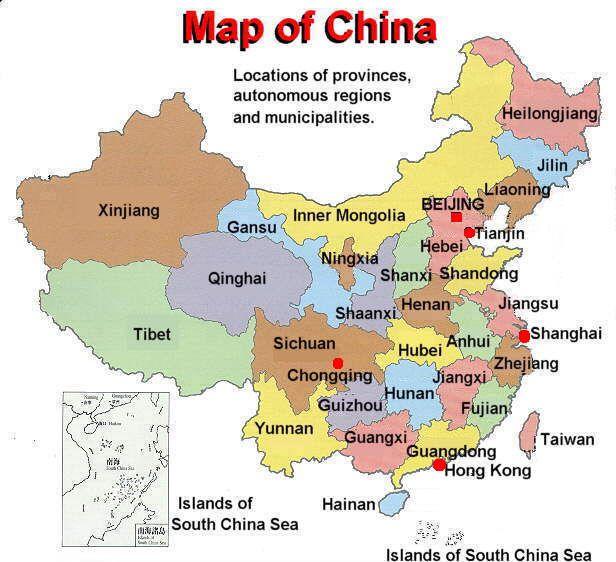 Map Of China Cities Google Search China Map China Travel