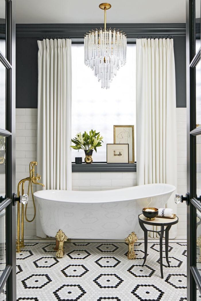1001 astuces pour am nager une petite salle de bain avec Deco salle de bain retro