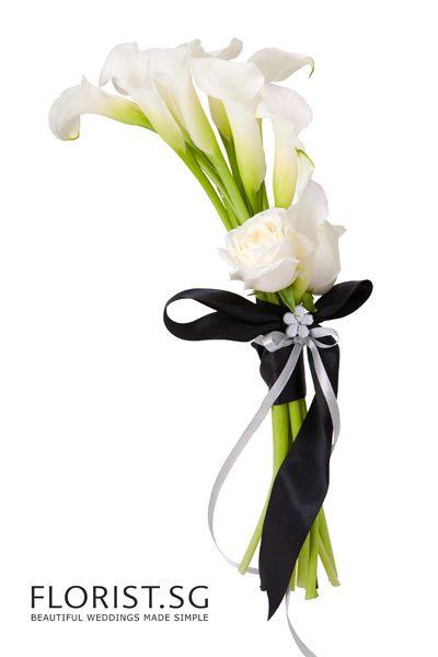 Calla Classic Bouquet Love The Simple Contrast Bliss The Florals Flower Bouquet Wedding Wedding Flowers Wedding Bouquets