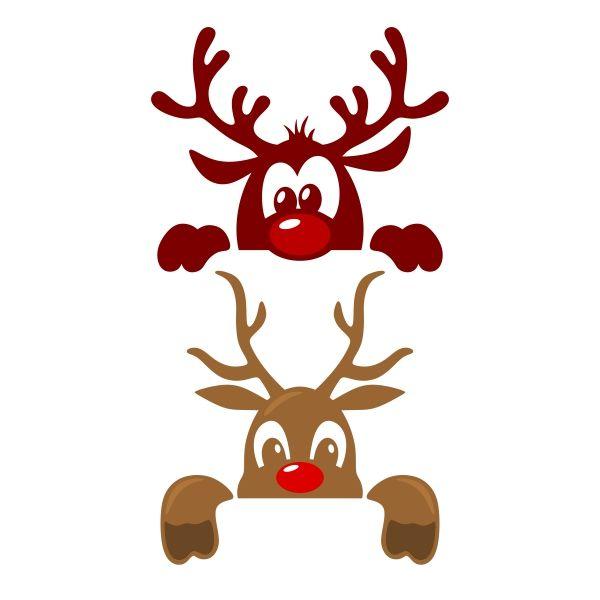 Cute Christmas Reindeer Svg Cuttable Design Christmas Stencils Christmas Svg Christmas Svg Files