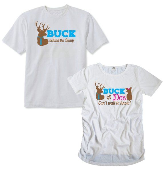 8609d795f53dc Buck or Doe Maternity Pack with a Shirt for Mom and Dad, Deer Themed  Pregnancy Pack
