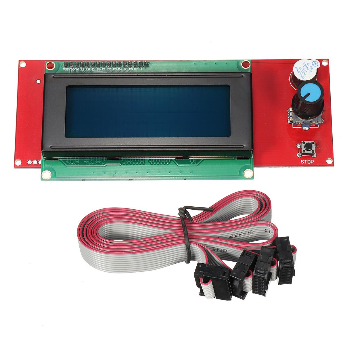 Tevo 3d Printer Part 2004 Lcd Smart Display Controlle Adapter For Ramps 1 4 Reprap With Cables Tevo For Printer Adapter Ramps With Repr Ends 3d Pr