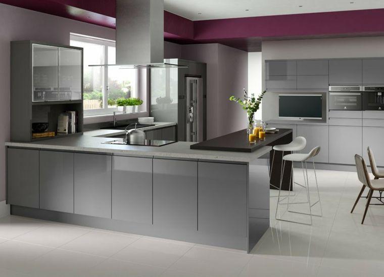 Cocinas blancas y grises - los 50 diseños más actuales - | Küche