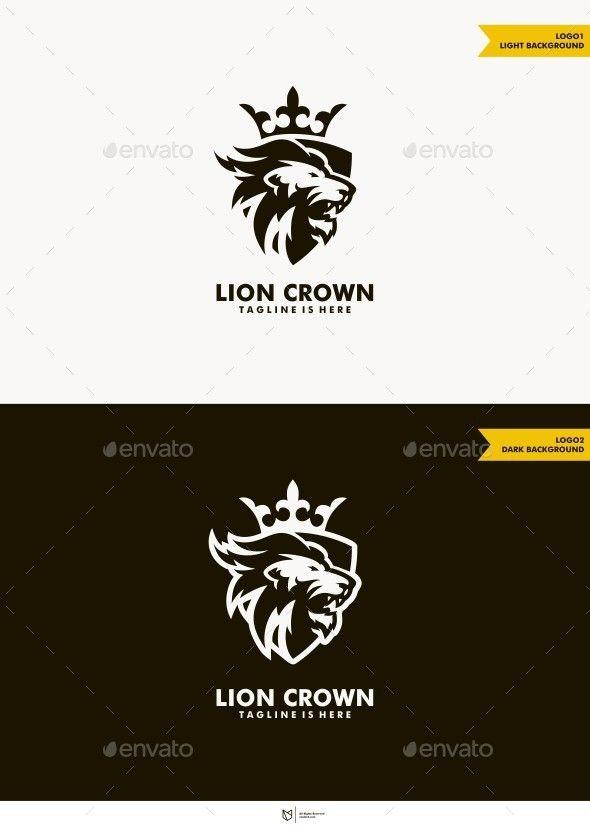 Lion Crown Logo Template Design Logotype Download Graphicriver