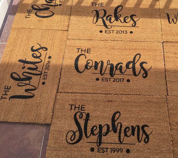 Personalized Doormat Last Name Doormat Houswarming Gift