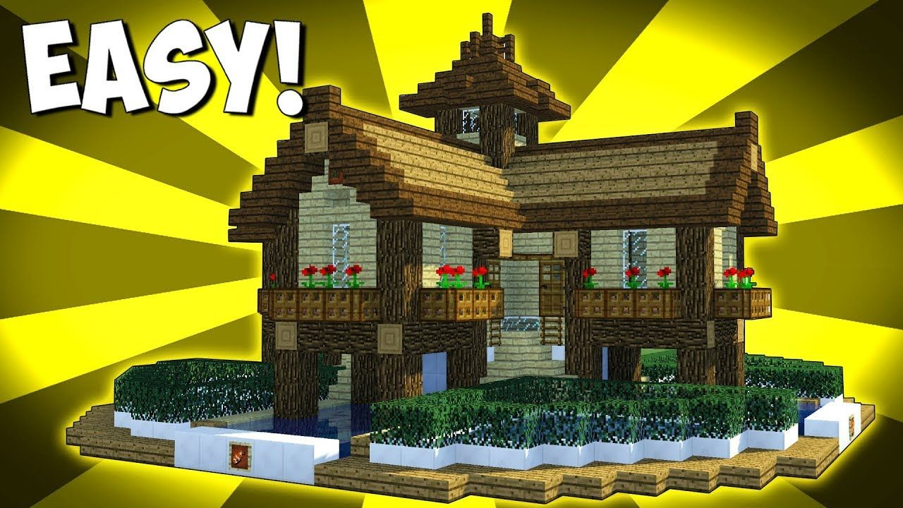 How To Build A Epic Wooden House In Minecraft Minecraft Houses For Girls Minecraft House Tutorials Building