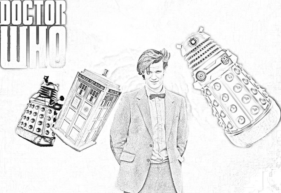 Doctor Who Coloring Page | Doctor Who | Pinterest