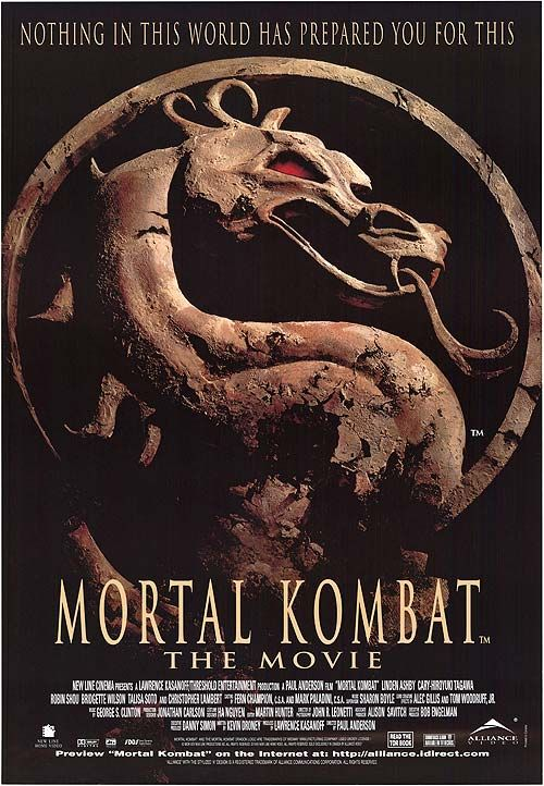 Movie Review Mortal Kombat 1995 Science Fiction Movie Posters Mortal Kombat Movie Posters