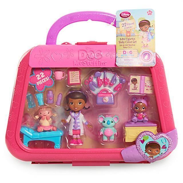 Doc Mcstuffins Baby Cece Mini Figurine Playset Nib Disney 22 Piece Set And Case Disney Baby Girl Toys Doc Mcstuffins Toys Disney Toys