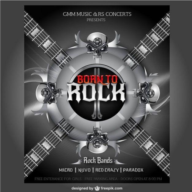 Cartel de concierto de rock | Descargar Vectores gratis