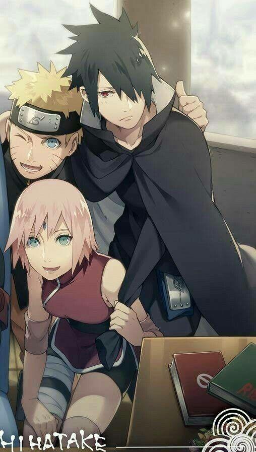 Photo Wallpaper Naruto, Naruto, Sasuke Uchiha, Sakura