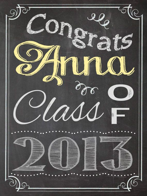 chalkboard sign graduation party congratulations congrats