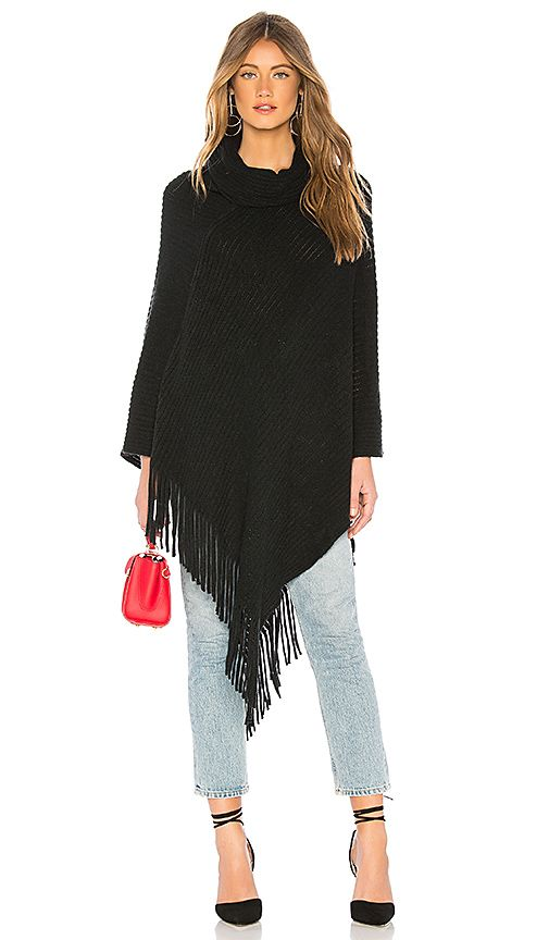 d3a17cf95d0 Michael Stars Draped In Texture Poncho in Black | { o n m y l i s t ...