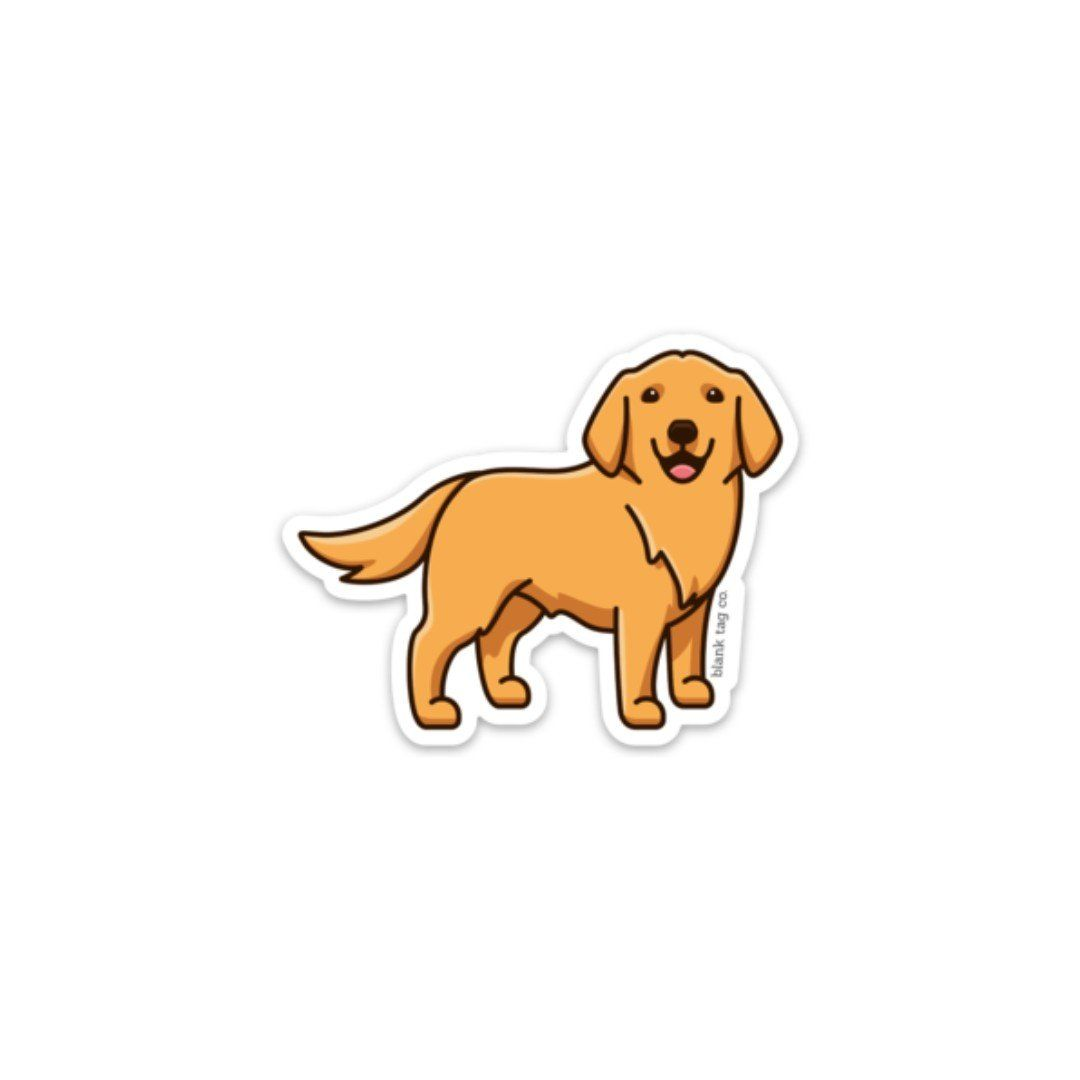 The Golden Retriever Sticker In 2020 Cute Stickers Aesthetic