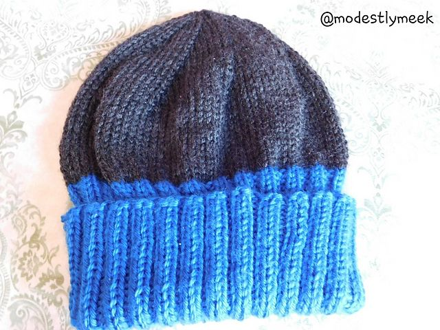 Ravelry  Men s Folded Brim Hat pattern by Modestly Meek Brim Hat ad063efb7d4