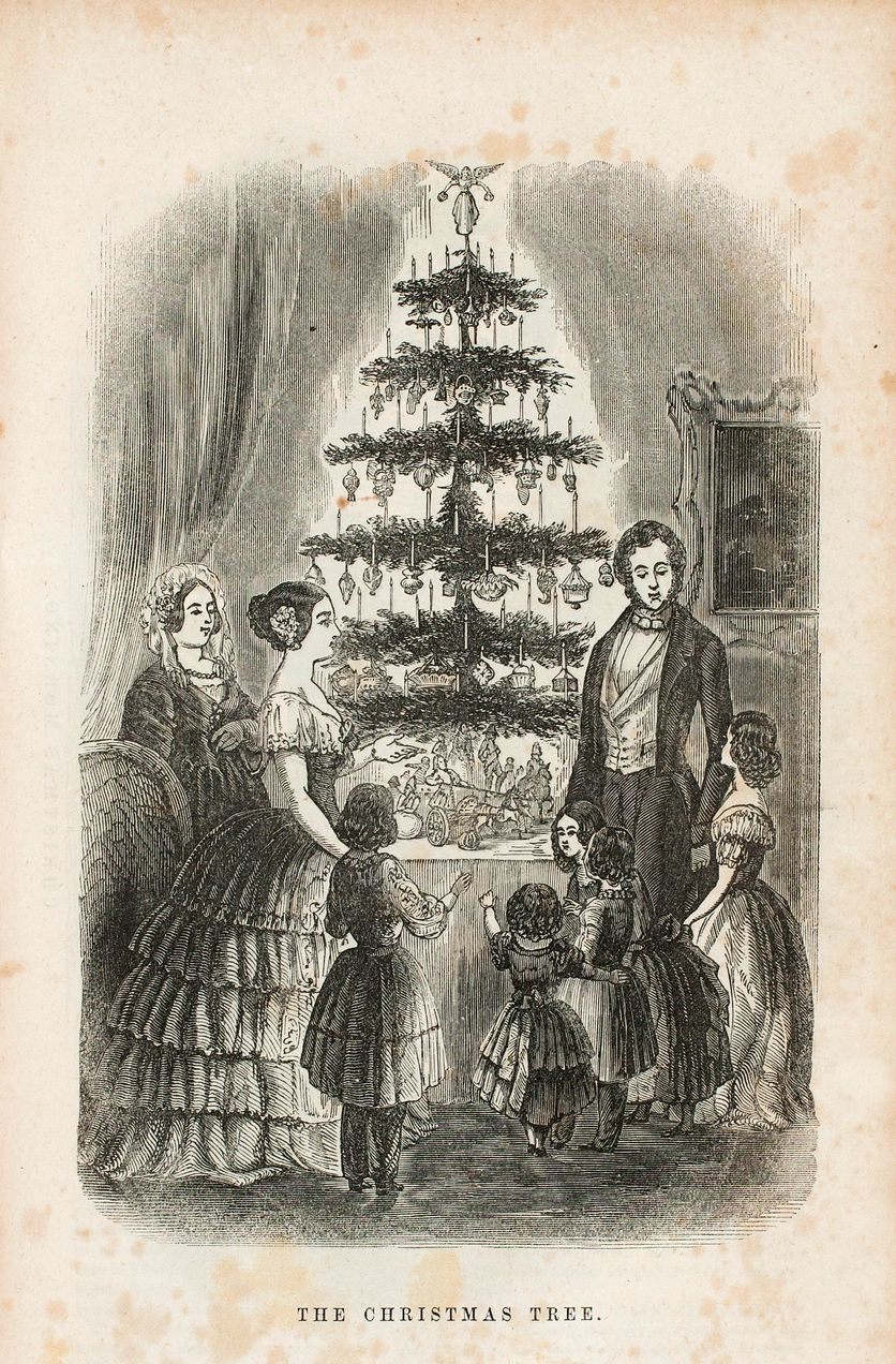 The Origins Of The Christmas Tree The Sketch Of Queen Victoria And Her Family Published In Illustra Christmas Tree Origin Christmas Tree Christmas Ornaments