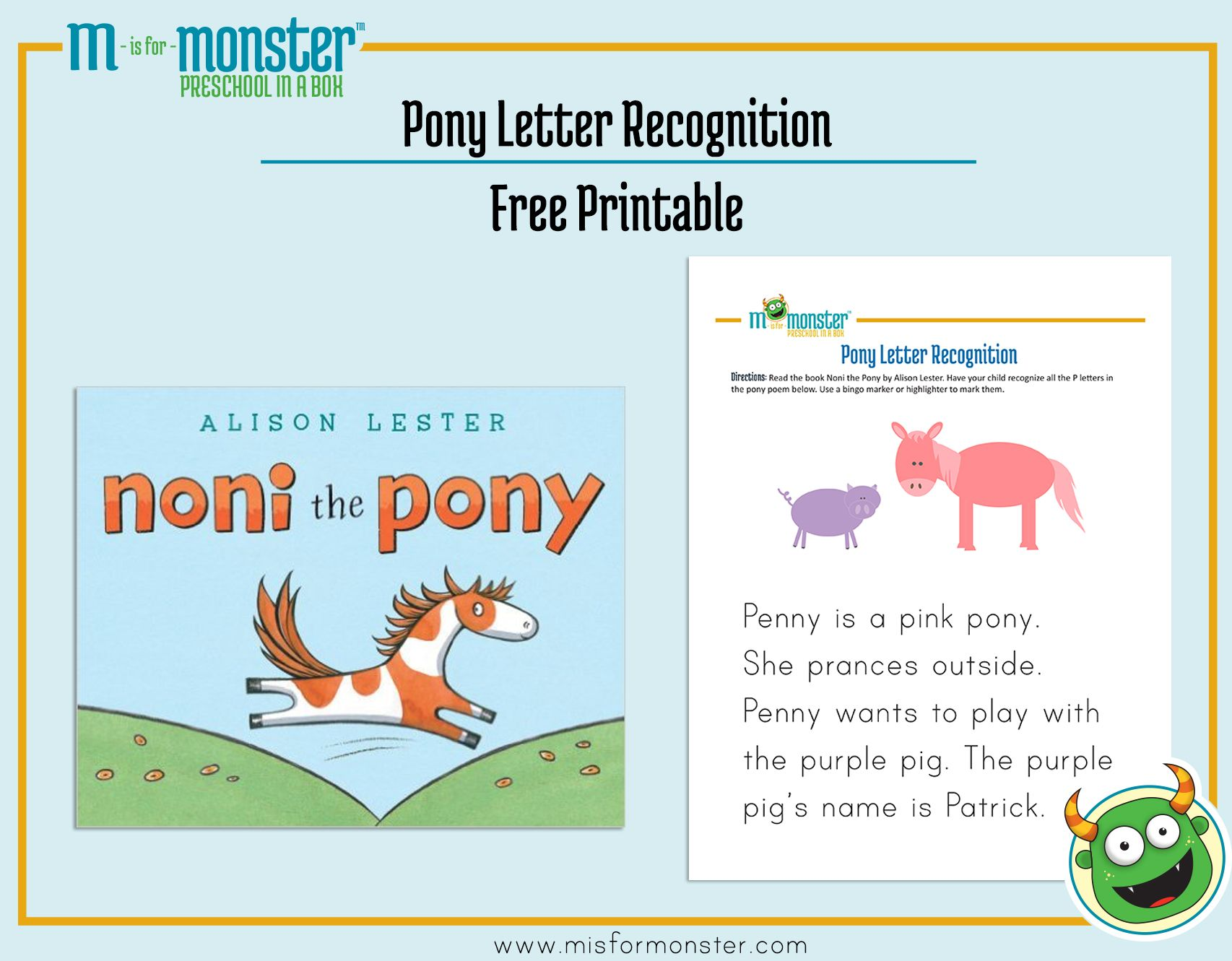 Noni The Pony Free Printable