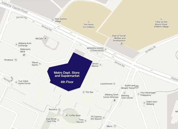A map going to DFA Alabang  DFA Philippine Passport  Pinterest