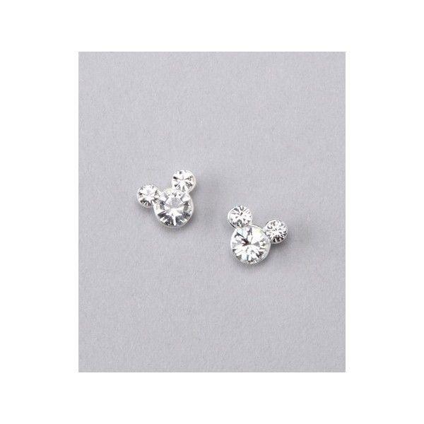 Sterling Silver April Mickey Earrings via Polyvore featuring jewelry, earrings, sterling silver jewelry, sterling silver jewellery and sterling silver earrings