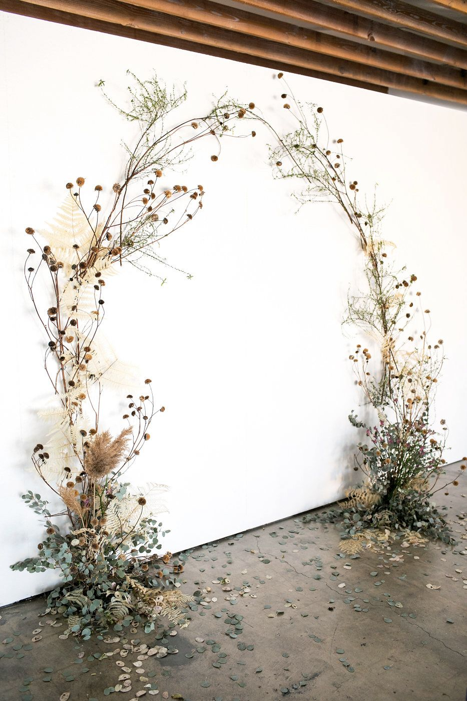 Floral Ceremony Backdrop #garlandofflowers