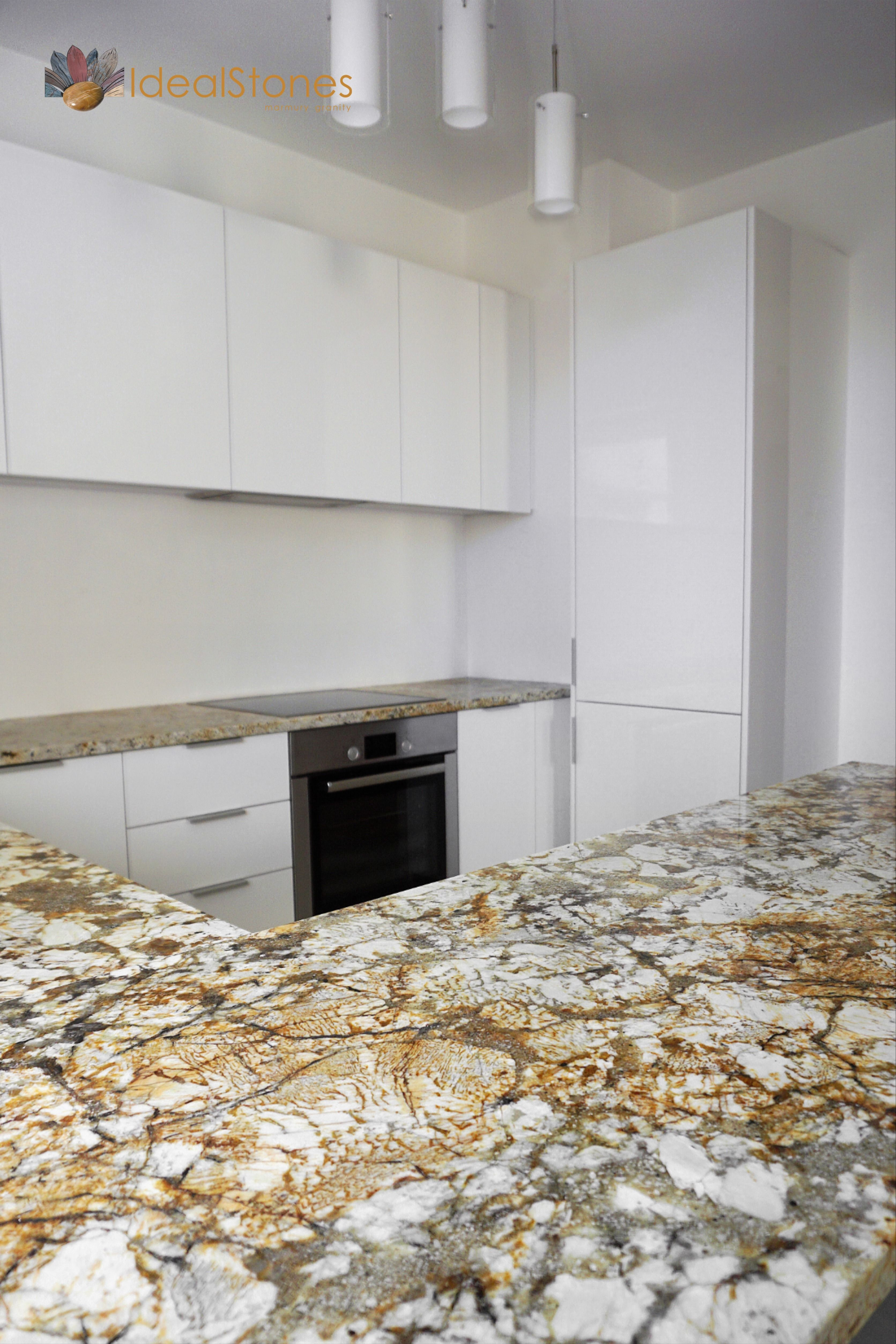 Blat Kamienny Granitowy W Kuchni Kitchen Kitchen Cabinets Decor