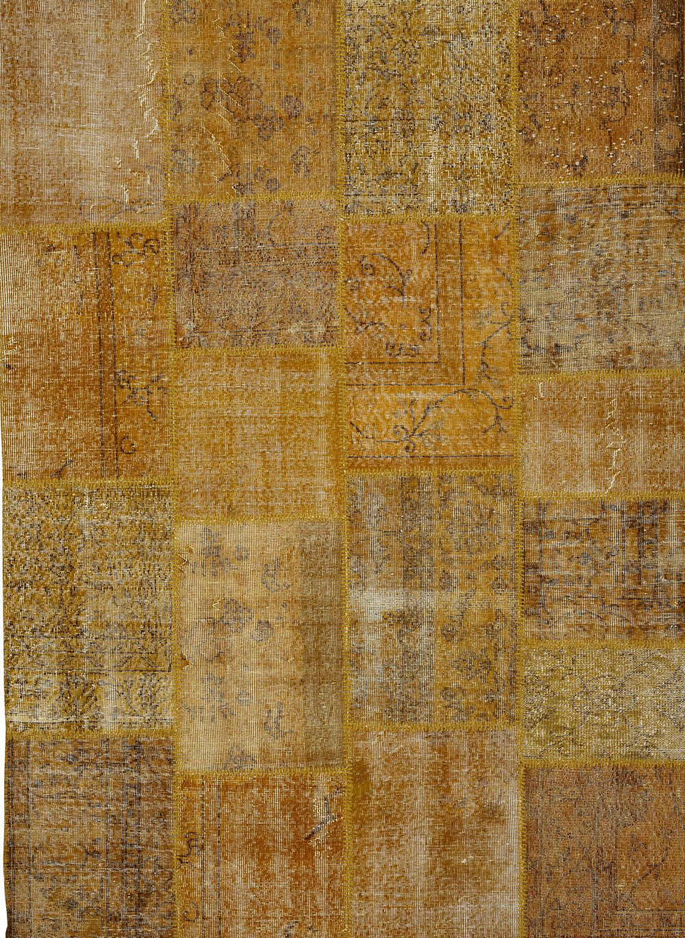 Steven And Chris Antique Kelim Patchwork Rug Collection In Beautiful Gold Mustard Tones Alexanian
