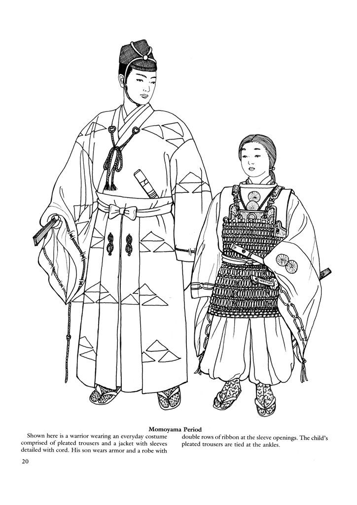 Japanese clothing colouring pages. | Traditional costume | Pinterest ...