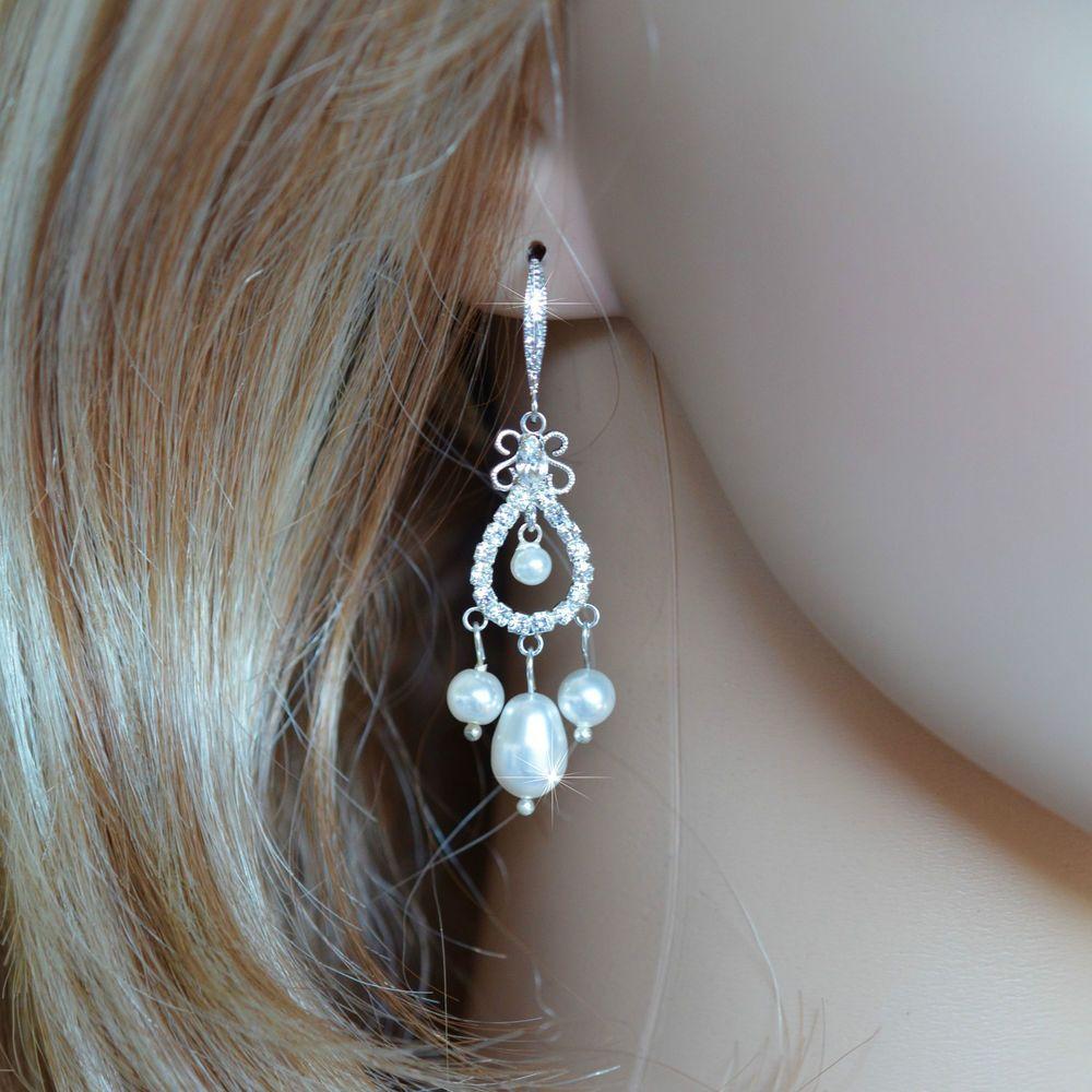 Last one handmade crystal pearl small chandelier earrings pearl last one handmade crystal pearl small chandelier earrings pearl 129 aloadofball Gallery