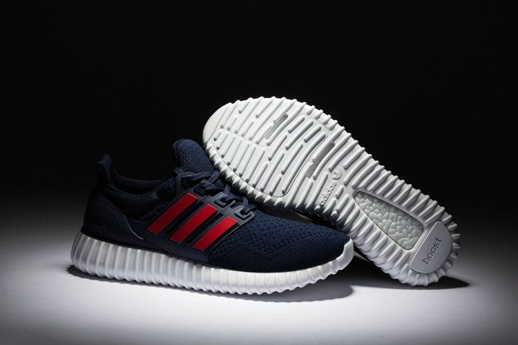 info for 8303d 447ed Adidas Yeezy Ultra Boost 2016-2017 Midnight Navy Sport Red UK Trainers 2017  Running