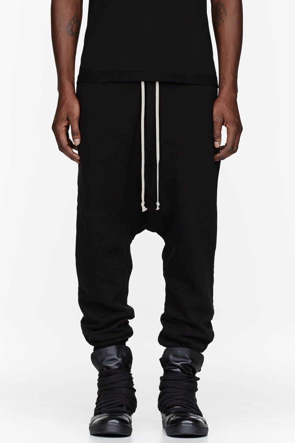 Clothing · Rick Owens DRKSHDW black harem lounge pants- ...