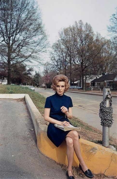 William Eggleston, I wonder who this woman was and what she did during her lifetime.  For me the photo represents women in post war suburbia.