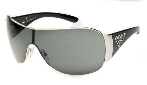 9e7dd48289d Prada Sunglasses style PR57LS is a metal shield frame. The PR57LS is  designed with adjustable nose pads and plastic temples for extreme comfort.